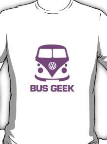 Bus Geek Purple T-Shirt