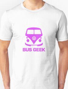 Bus Geek Purple Unisex T-Shirt