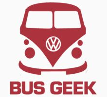VW Bus Geek Red by splashgti