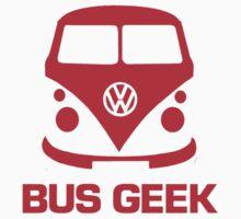 VW Bus Geek Red by splashgti
