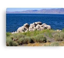 Rocks at Pyramid Lake Sutcliffe Nevada USA Canvas Print