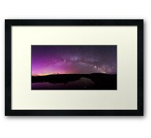 Northern Lights and Milky Way Over Jackson Hole Framed Print