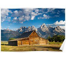 Moulton Barn and Teton Mountains Poster