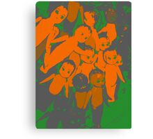 Bunch of cupie dolls. Canvas Print
