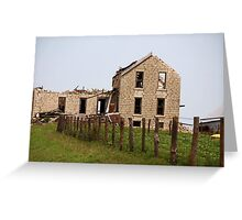 Abandoned Kansas Farm House Greeting Card
