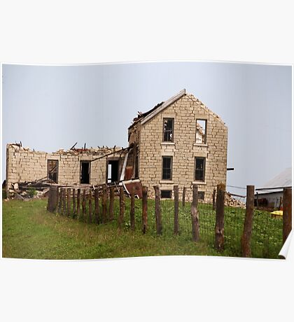 Abandoned Kansas Farm House Poster