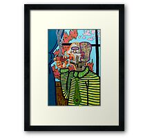 Man Smoking a Pipe Framed Print