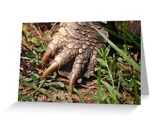 Snapping Turtle Foot Greeting Card