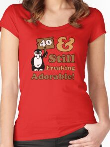 Cute 40th Birthday Gift For Women Women's Fitted Scoop T-Shirt
