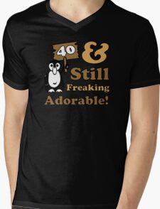 Cute 40th Birthday Gift For Women Mens V-Neck T-Shirt