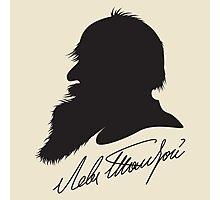 Leo Tolstoy profile portrait and signature Photographic Print