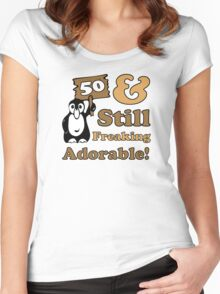 Cute 50th Birthday Gift For Women Women's Fitted Scoop T-Shirt