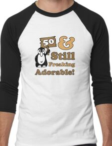 Cute 50th Birthday Gift For Women Men's Baseball ¾ T-Shirt