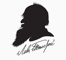 Leo Tolstoy profile portrait and signature Unisex T-Shirt