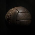 Vintage/Traditional Brown Leather Laced Football  by MJWills26
