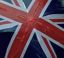 Union Jack Flag Britain! Umbrella in rainy England  by MJWills26