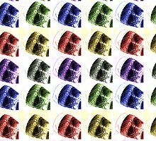Coca-Cola Drink Glass Summer Colours Rainbow, Retro  by MJWills26
