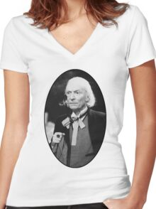William Hartnell Shirt (1st Doctor) Women's Fitted V-Neck T-Shirt