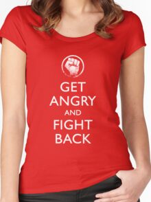 Get Angry and Fight back  Women's Fitted Scoop T-Shirt