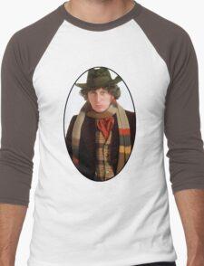 Tom Baker (4th Doctor) Men's Baseball ¾ T-Shirt