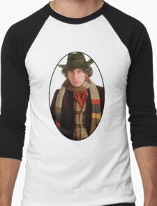 Tom Baker (4th Doctor) Men's Baseball ¾ T-Shirt