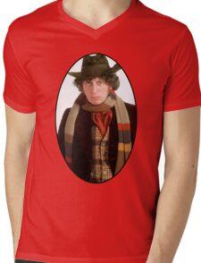 Tom Baker (4th Doctor) Mens V-Neck T-Shirt