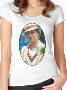 Peter Davison (5th Doctor) Women's Fitted Scoop T-Shirt