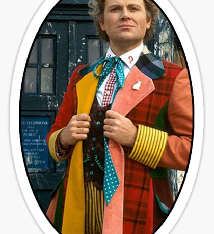 Colin Baker (6th Doctor) Sticker