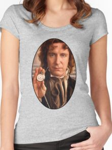 Paul McGann (8th Doctor) Women's Fitted Scoop T-Shirt