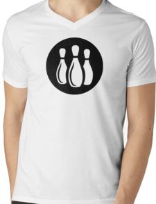 Bowling Ideology Mens V-Neck T-Shirt