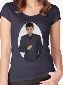 David Tennant (10th Doctor) Women's Fitted Scoop T-Shirt