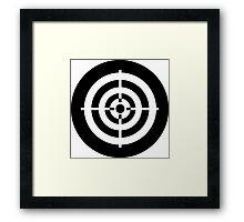 Bullseye Ideology Framed Print