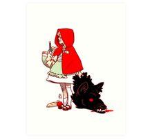 Little Red Hood Art Print