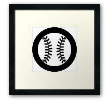 Baseball Ideology Framed Print