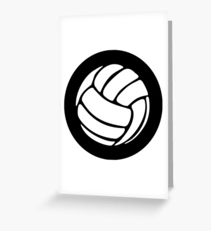 Volleyball Ideology Greeting Card