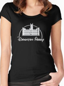 Downton Abbey / Disney //all white artwork// Women's Fitted Scoop T-Shirt