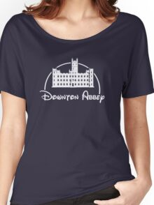 Downton Abbey / Disney //all white artwork// Women's Relaxed Fit T-Shirt