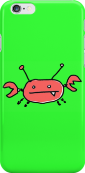 Crabby iPhone cover by Ollie Brock