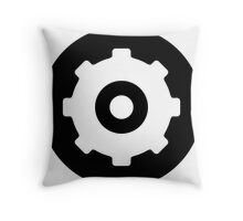 Gear Ideology Throw Pillow