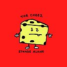 The Cheese Stands Alone iphone cover by Ollie Brock