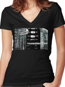 all gone Women's Fitted V-Neck T-Shirt