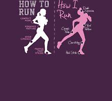 How I Run (Women) - dark garments Womens Fitted T-Shirt