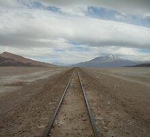 Railway through the desert. by GHeathcote