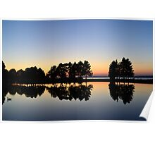Mirrored Pond  Poster