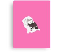 Hot Pink Pup Canvas Print