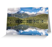 Mount Penrose Reflecting in Lake Lajoie Greeting Card