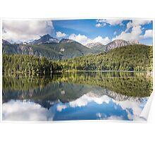Mount Penrose Reflecting in Lake Lajoie Poster