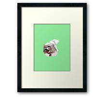 Mint Green Pup Framed Print