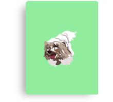 Mint Green Pup Canvas Print