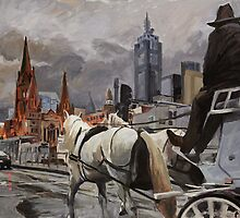 Swanston Street by Peter Roccella